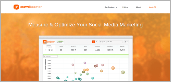 Crowd Booster - example of social media management tools