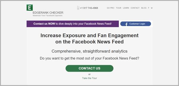 Edgerank checker - example of social media management tools
