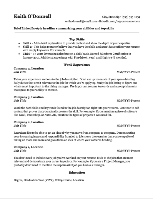 Are any of your hobbies relevant? Free Resume Templates For 2021 Downloadable Templates
