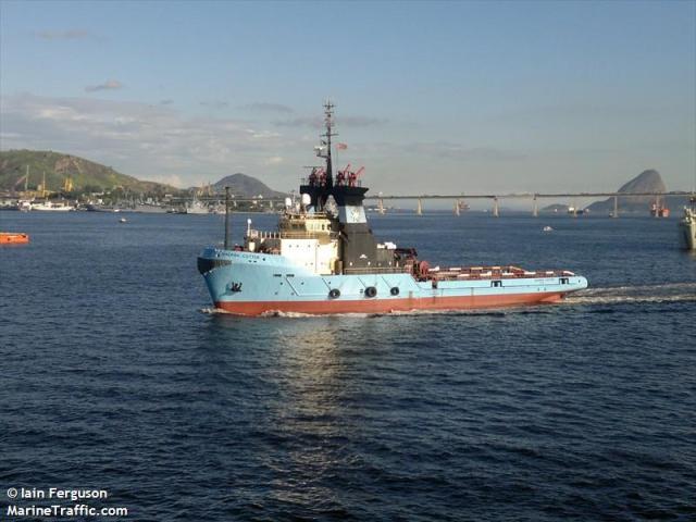 Embarcação AHTS que o 1ON Ricardo trabalhou, o Maersk Cutter. (Imagem: Marine Traffic.)