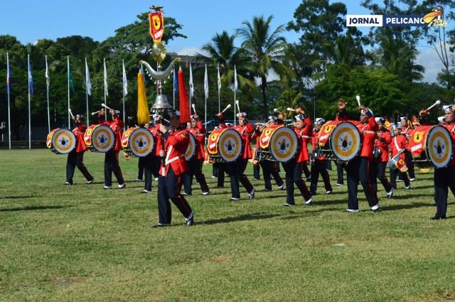 Banda Marcial do Corpo de Fuzileiros Navais se apresenta na Cerimônia (Foto: Al. Rebecca / Jornal Pelicano)