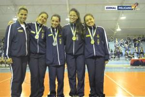 Equipe feminina de orientação da EFOMM.( Al. Collares / Jornal Pelicano)