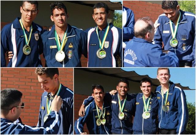 Atletas da EFOMM conquistam 6 medalhas na MercaEx. (Foto: PON Alessandro / Jornal Pelicano)