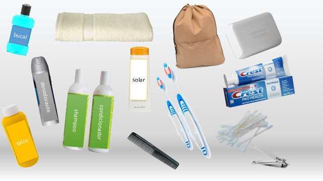 Ilustração de material de higiene para levar para a praticagem. (Imagem: Jornal Pelicano)