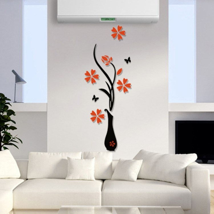 Allwin 3D Acrylic Vase & Plum Pattern Room TV Backdrop Entrance Home Wall Sticker price on jumia Nigeria via specspricereview.com