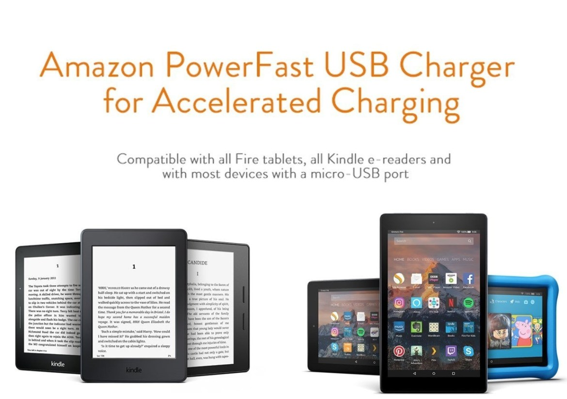 a1b70b2ddf94d7ea1404a4e0878a8efe Amazon PowerFast Charger For Android Phones & Tablets With Fast Data USB Cable  Fast Charging