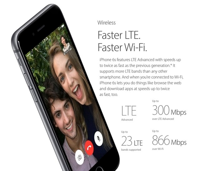 iPhone 6s with Faster Wireless connection and speed