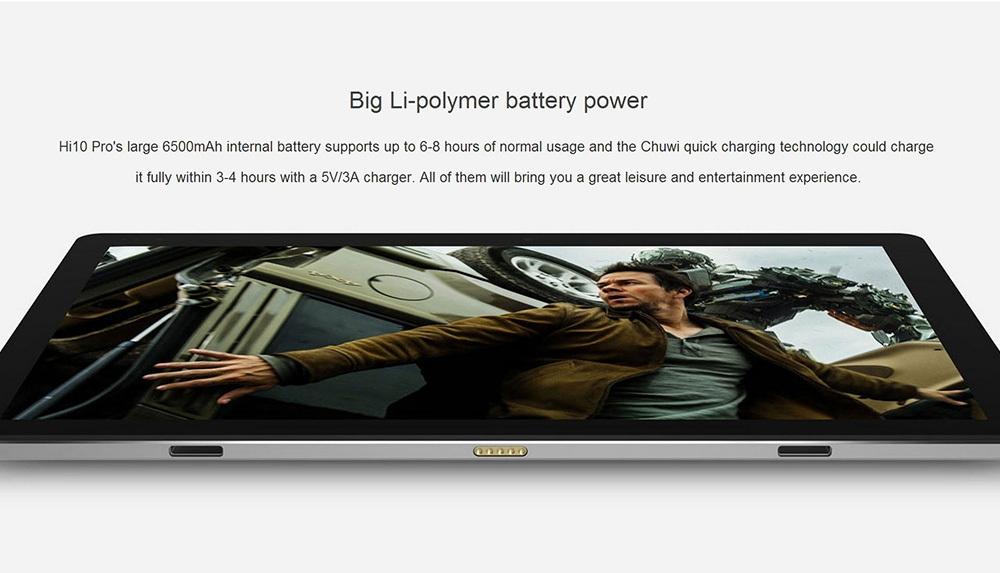 92f59f053d788949ac9251df1ea716e8 Chuwi Hi10 Pro Ultrabook Tablet PC 2 In 1 10.1 Inch 4GB RAM 64GB ROM Stylus Function Type C GRAY
