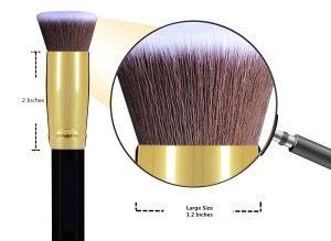 beacf25661783dd54ba6792293739fea Daurici Makeup Brushes Premium Makeup Brush Set Synthetic Cosmetics Foundation Blending Blush Eyeliner Face Powder Brush Makeup Brush Kit (10pcs, Golden Black)