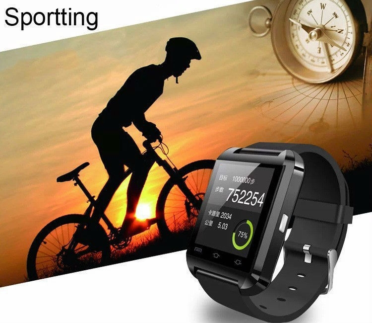 Fashion Smartwatch U8 Uwatch Bluetooth Touch Screen Smart Watch For Android Phone (Black) price in nigeria