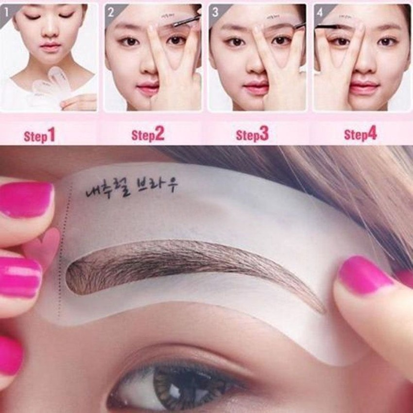 30f22e45e9f7ff6bf4bbdcc57474b9e6 Fashion 3 Styles Brow Class Drawing Guide Eyebrow Template Make Up Tools Grooming Stencil Kit Shaping DIY Beauty