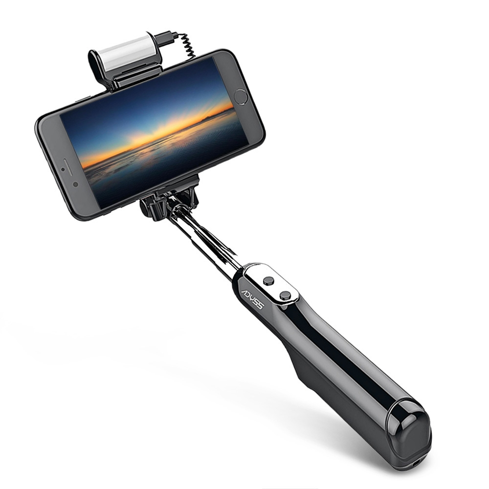 Generic Selfie Stick For ISO/Android LED Flash Wireless Shutter Handheld   Black price in nigeria