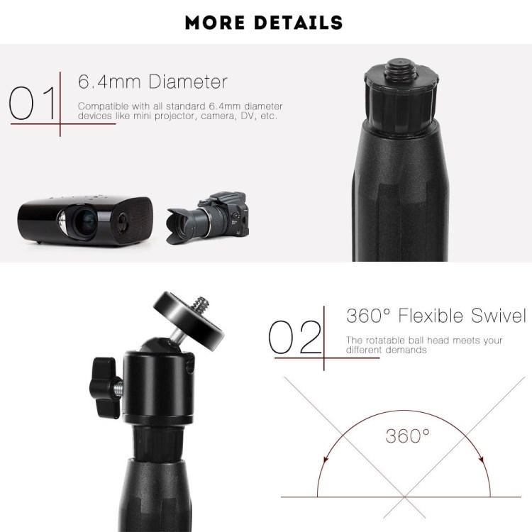 Generic V2 Portable Tripod 55 Inch Holder For Mini Projector Camera BLACK price on jumia Nigeria via specspricereview.com