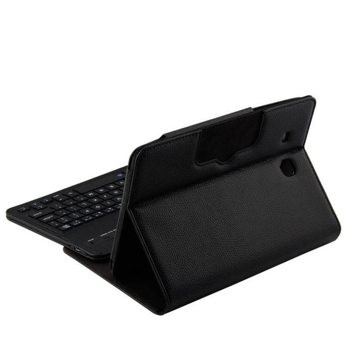 ab35bf0891e7871c06b874e69433acde Generic Tcetoctre For Samsung Galaxy TAB E T560 Flip Bluetooth Keyboard Leather Case Cover Black  Black