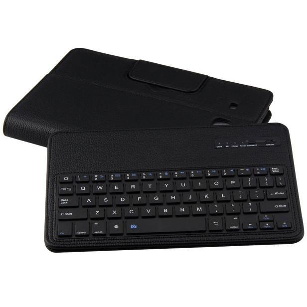 f1c3e5745e178423d1845ddb180cd882 Generic Tcetoctre For Samsung Galaxy TAB E T560 Flip Bluetooth Keyboard Leather Case Cover Black  Black
