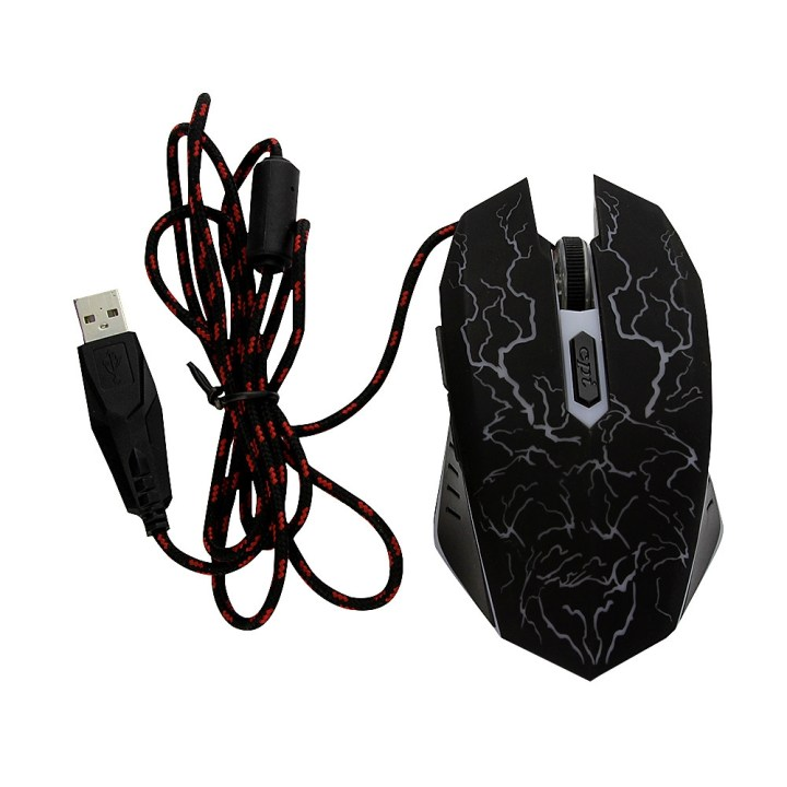 Generic Professional Seven LED Colors Light Change Optical USB 1600 DPI Wired Gaming Mouse Bloody Mause Gamer For Laptop Computer Mouse(Black price in Nigeria