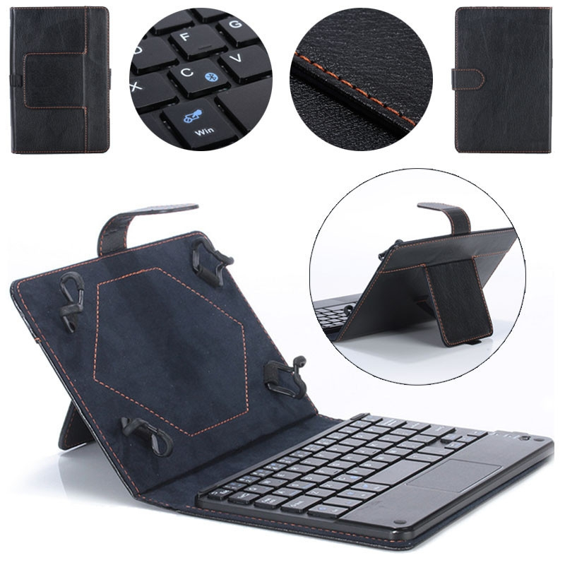 faaf56907471f3bc34102570fe1bfc42 Generic Tcetoctre Universal 8 9 Inch Bluetooth Keyboard Leather Stand Case For PC Tablet  Black