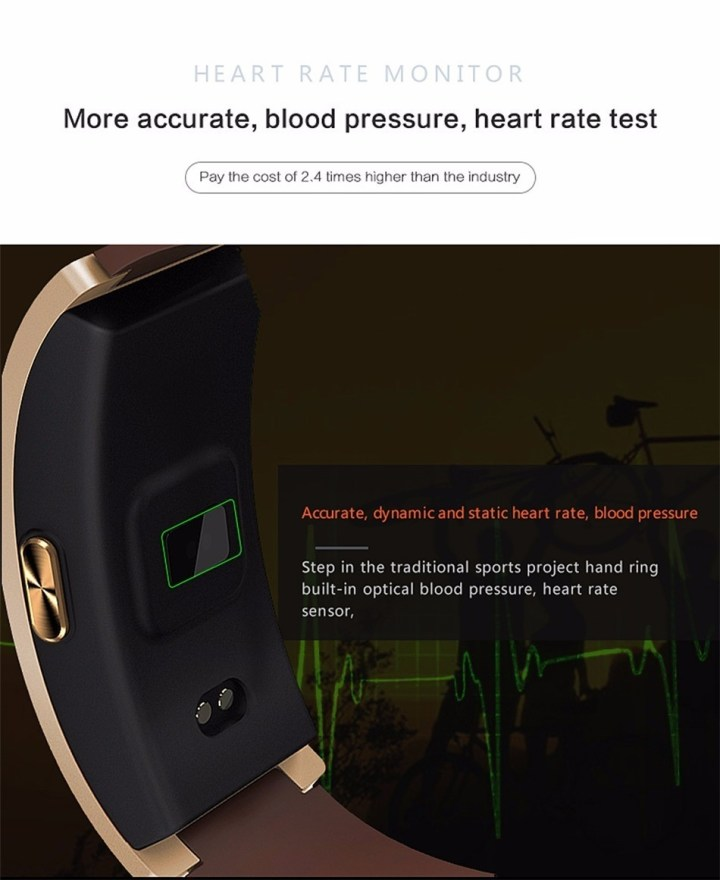 Generic CK11 Smart Band Blood Pressure Heart Rate Monitor Fitness Pedometer Wristband(Silver) price in Nigeria