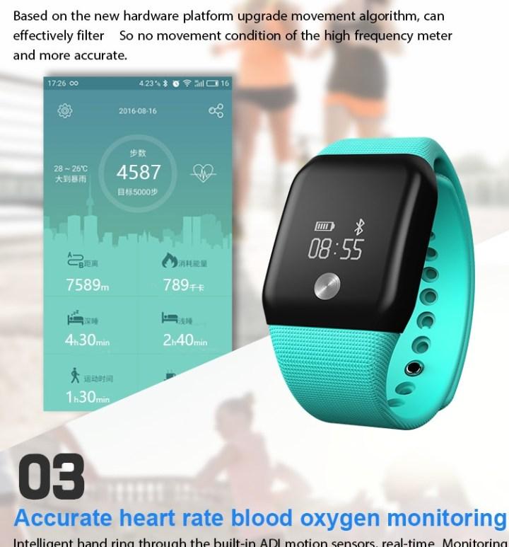 Generic A88 Smart Watch Heart Rate Monitor Sleep Waterproof Wristband(Black) price in Nigeria