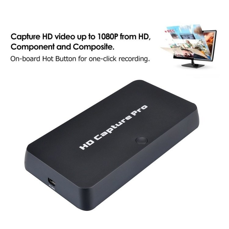 Generic Y&H Game Capture Card HD Video Capture Up To 1080P Into USB Disk,Windows System Works With OBS For Live Video Streaming,Support Mic In With HDMI/YPBPR/AV Input price on jumia Nigeria via specspricereview.com
