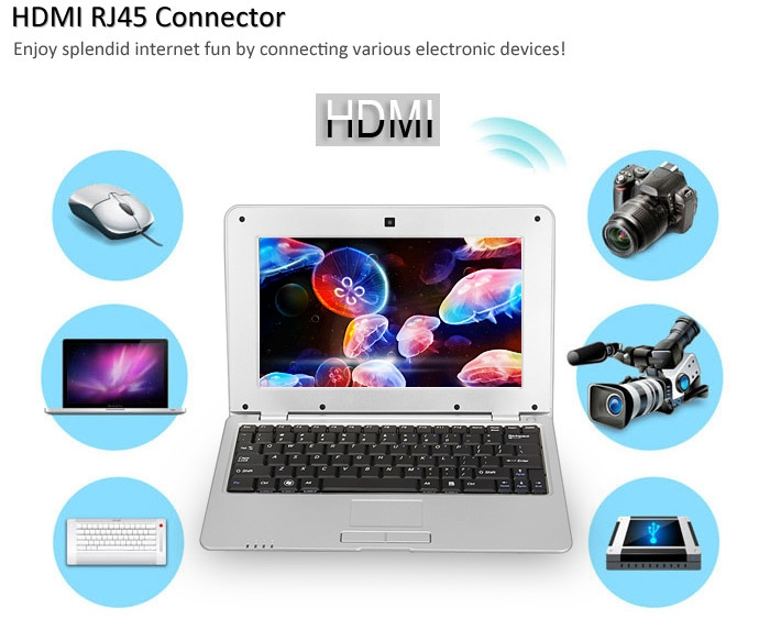 3d46e002ee8c28cef45919bb6e281f1c Generic 1088A Android 4.4 Netbook With 10.1 Inch WSVGA WM8880 Dual Core 1.5GHz 1GB 8GB WIFI Camera SILVER