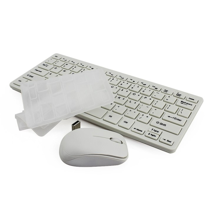 Generic High Quality Wireless Keyboard + Mouse Keyboard Mouse Set + Protective Cover Combo Kit For Computer Laptop PC(Black) price in Nigeria
