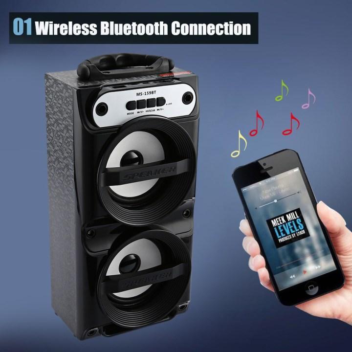 Generic WSA  8618  Wireless Bluetooth Speaker With High Power Power Bank & FM Radio price in Nigeria