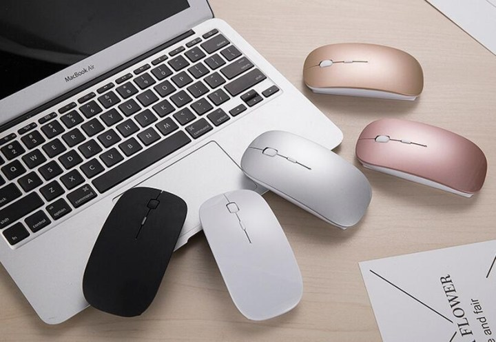 Generic 2.4G Wireless Mouse Rechargeable Bluetooth Mice For Dell/Hp/Lenovo Ideapad 710s/Acer/Asus Silent Mouse With 3 DPI For PC/Laptop(Rose Gold) price in Nigeria