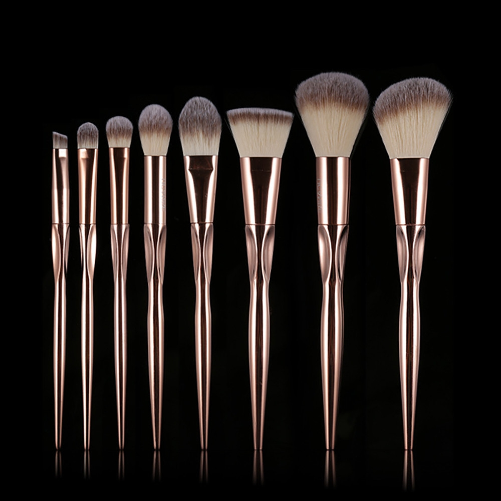 28105ded1d8a8a923a6dd1742f83f23a Generic 8Pcs/set Makeup Brush Set Tools Make up Toiletry Wool Make Up Brush Set  Gold