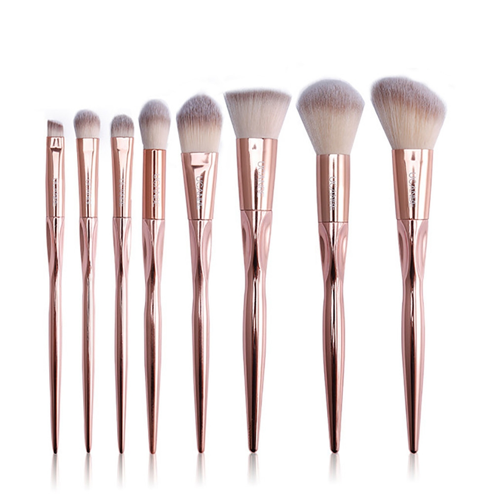 e88097c3421db7d2dc62c2ae9ebcfdb8 Generic 8Pcs/set Makeup Brush Set Tools Make up Toiletry Wool Make Up Brush Set  Gold