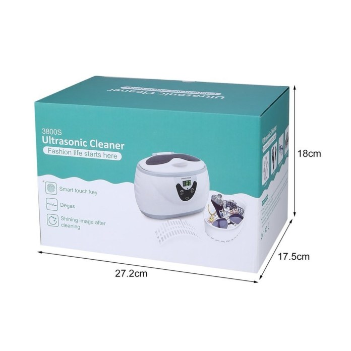 Generic 600ml Digital Timer LED Display Ultrasonic Cleaner For Jewelry Watches Dental price in nigeria