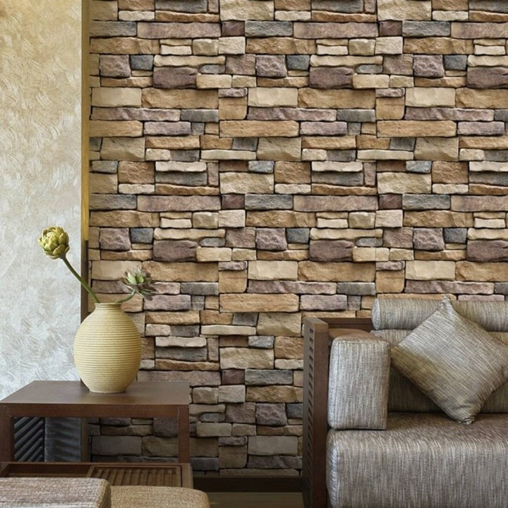 Generic 3D Brick Wall Paper Modern Removable PVC Living Room Background Wall Sticker price in Nigeria