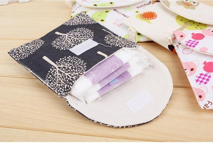 Generic Useful And Helpful Housekeeping & Organizers Girl Cotton Diaper Sanitary Napkin Package Bag Storage Organizer As Shown price in Nigeria