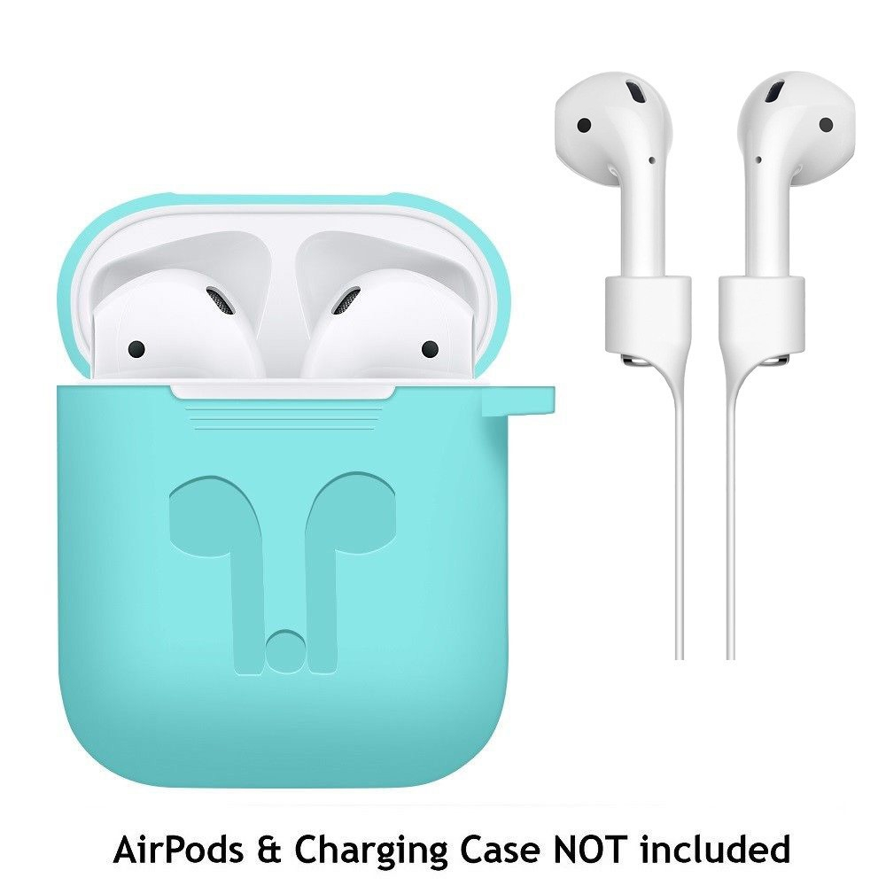a11ab437808ab3c482667e458cab23d5 Generic Generic Case Cover For Apple AirPods + AirPod Strap Silicone Protective Charging Sport A1