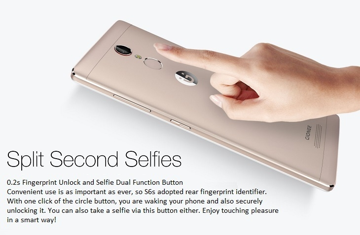 8de74ddc8ca99bc7ad4da6ec075702b2 Gionee S6s 5.5 Inch FHD (3GB, 32GB ROM) Android 6.0 Marshmallow, 13MP + 8MP Dual SIM 4G Smartphone   Mocha Gold