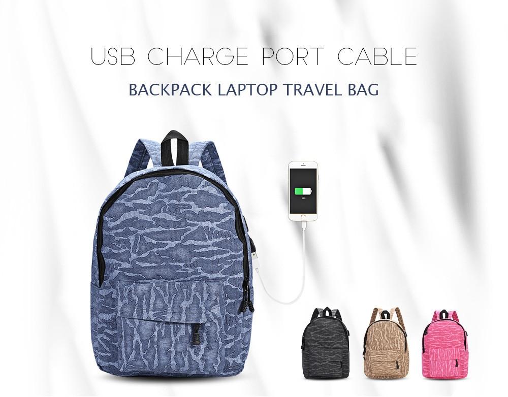 0c2fd0b3d68efd502d1192023404b7dd Guapabien USB Charge Port Cable Backpack Laptop Travel Bag   Black
