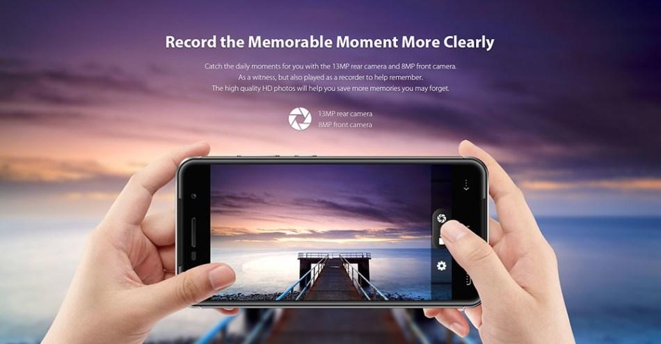 Homtom HT37 PRO Android 7.0 Smartphone 5.0 Inch 3GB RAM + 32GB ROM Fingerprint Scanner Dual Cameras-ROSE GOLD