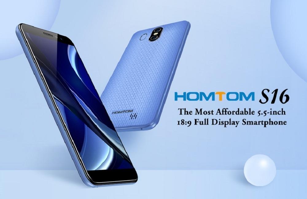 cba89263ccb4c45dd5804c4e230058df Homtom S16 5.5 Inch HD (2GB,16GB ROM) Android 7.0 Nougat, (13.0MP + 2MP) + 8.0MP Dual SIM Smartphone   Black