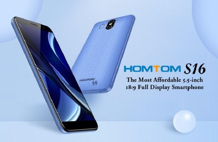 Homtom S16 3G Smartphone 2GB RAM +16GB ROM Android 7.0 Blue price in nigeria
