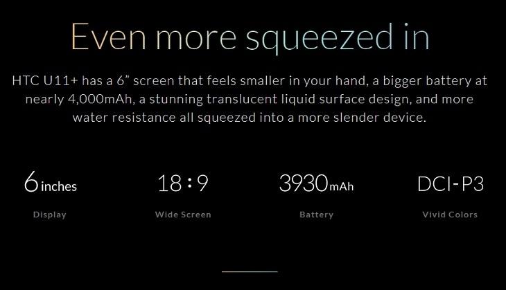 c375c0b1fe6472c79ac503c1d0e92265 HTC U11 Plus (U11+) 6 Inch QHD (6GB,128GB ROM) Android 8.0 Oreo, 12MP + 8MP Dual SIM 4G Smartphone   Translucent Black