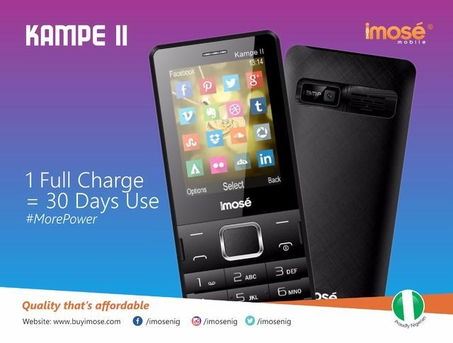 iMose Kampe II 5,000 MAh Power Bank/Dual SIM GSM Phone + Wireless FM Radio   White price in Nigeria