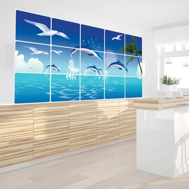 Kokobuy New Design Creative Ocean Pattern Ketchen Living Room Bedroom Wall Sticker price in Nigeria