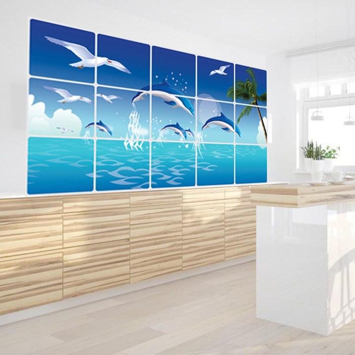 Kokobuy New Design Creative Ocean Pattern Ketchen Living Room Bedroom Wall Sticker price in Nigeria
