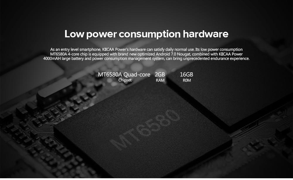 Leagoo KIICAA POWER 3G Smartphone 5.0 Inch Android 7.0 MTK6580A Quad Core 1.3GHz 2GB RAM 16GB ROM 4000mAh Battery 5.0MP + 8.0MP Dual Rear Cameras Light Sensor price in nigeria