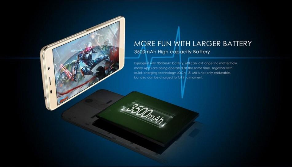 Leagoo M8   5.7 3G Freeme OS 6.0 MT6580 Quad Core 2GB/16GB EU PLUG   Golden price on Jumia