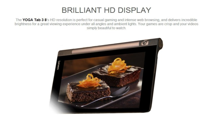Lenovo Yoga Tab 3 850F   8.0 Android 5.1 2GB/16GB G sensor Bluetooth GPS 6200mAh   Black price in Nigeria