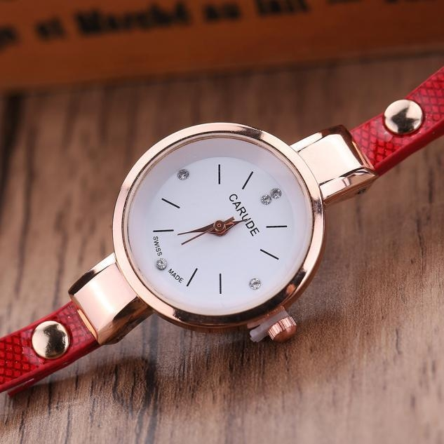 McyKcy Women Leather Rhinestone Analog Quartz Wrist Watches price in Nigeria