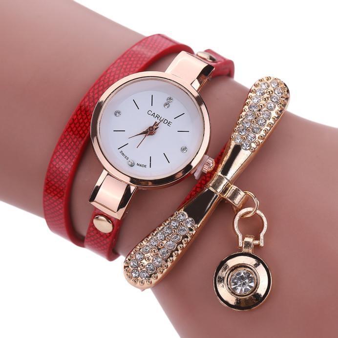McyKcy Women Leather Rhinestone Analog Quartz Wrist Watches price in Nigeria