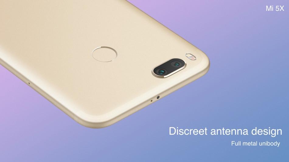 Mi Xiaomi 5X 5.5 Inch 4GB RAM 64GB ROM Snapdragon 625 Octa Core Smartphone Gold price in Nigeria