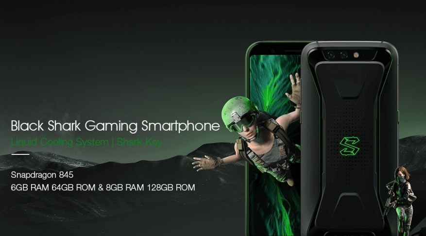 Xiaomi Black Shark Gaming Phone 5.99 Inch Smartphone Snapdragon 845 6GB 64GB Android 8.0 OS 4G LTE - Black